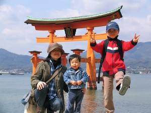 宮島 家族写真